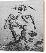 Skeleton Boat Wood Print