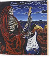 Skeleton Dream Wood Print by Gary Kroman