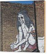 Skeleton Lady Wood Print
