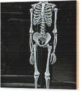 Skeleton New York City Wood Print
