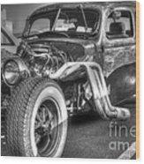 Skeleton Of A Classic Car Wood Print