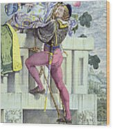 Sketch For The Passions Love Wood Print by Richard Dadd