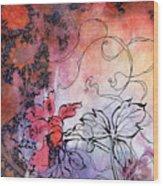 Sketchflowers - Calendula Wood Print