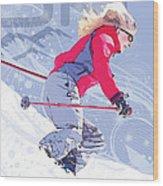 Ski 1 Wood Print