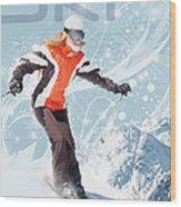Ski 2 Wood Print