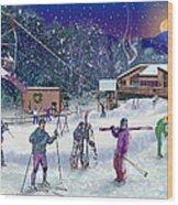 Ski Area Campton Mountain Wood Print