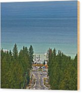 Ski Run Blvd Wood Print