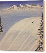Ski Trip Wood Print