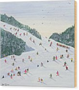 Ski Vening Wood Print