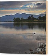 Skiddaw And Derwent Water At Dawn Wood Print