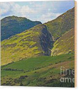 Skiddaw In The Lake District Wood Print