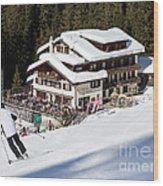 Skihaus Schifer Skier Davos Parsenn Klosters Wood Print