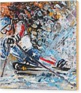 Skiing 04 Wood Print