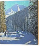 Skiing  Beauregard La Clusaz Wood Print