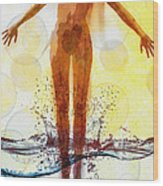 Skinny Dipping Wood Print