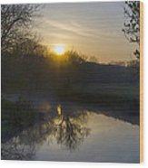 Skippack Creek Sunrise Wood Print