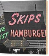Skips Hamburgers II Wood Print