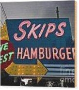 Skips Hamburgers Wood Print