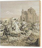 Skirmish Of Persians And Kurds Wood Print
