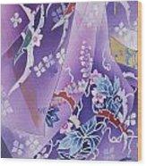 Skiyu Purple Robe Crop Wood Print