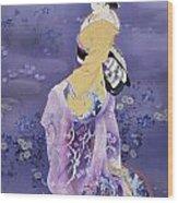 Skiyu Purple Robe Wood Print by Haruyo Morita