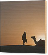 Skn 0911 The Flaring Light Of Sunrise Wood Print