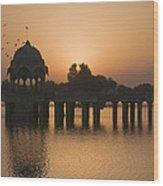 Skn 1368 Sunrise Flight Wood Print