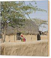 Skn 1401 Rural Background Wood Print