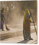 Skn 1690 Twin Sweepers Wood Print