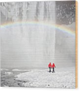 Skogafoss Waterfall, Iceland Wood Print