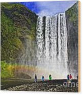 Skogarfoss Wood Print