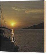 Skopelos - Through The Rigging Wood Print