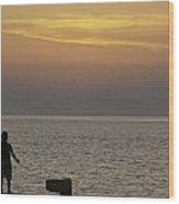 Skopelos Sunset - Fisher Boy - 2 Wood Print