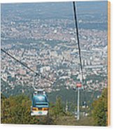 Skopje From The Cablecar Wood Print