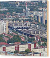 Skopje Railway Station Wood Print