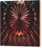 Skc 0285 Cut Glass Plate In Red And Blue Wood Print