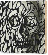 Skull 4 Wood Print
