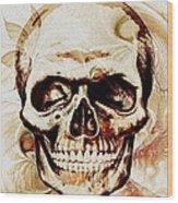 Skull Wood Print by Anastasiya Malakhova