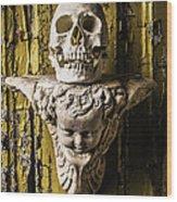 Skull And Angel Wood Print