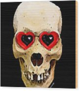 Skull Art - Day Of The Dead 2 Wood Print by Sharon Cummings