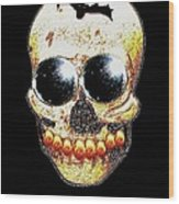 Skull Art In A Surrealism Definition Wood Print