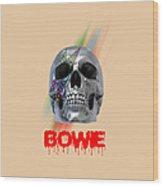 Skull Bowie  Wood Print