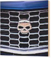 Skull Grill Wood Print by Phil 'motography' Clark