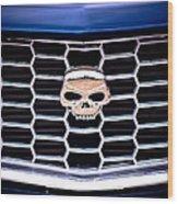 Skull Grill Wood Print