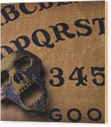 Skull Planchette Wood Print