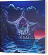 Skull Point Wood Print