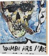 Skull Quoting Oscar Wilde.6 Wood Print