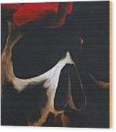 Skull Rose Wood Print