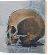 Skull Torso Wood Print