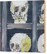 Skulls In The Crypt Wood Print